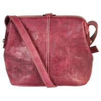 Diophy Genuine Leather Small Buckle Cross Body Bag