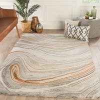Hammet Handmade Abstract Copper/ Gray Area Rug - 8' x 11'