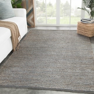 "Rockport Handmade Solid Gray Area Rug - 8'10"" x 11'9"""