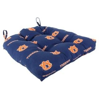 """Auburn Tigers Indoor / Outdoor Seat Cushion Patio D Cushion 20"""" x 20"""", 2 Tie Backs - 20"""" x 20"""" x 3"""""""