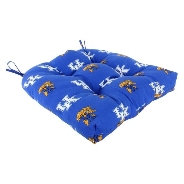 Shop Kentucky Wildcats Indoor Outdoor Seat Cushion Patio D Cushion 20 Quot X 20 Quot 2 Tie Backs 20