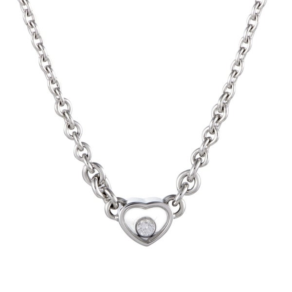 492b2013fb480 Shop Chopard Happy Diamonds White Gold Floating Diamond Heart ...