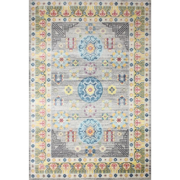 Grover Grey Transitional Area Rug - 5' x 7'6""