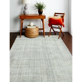 """Janis Ivory/Grey Contemporary  Area Rug - 5' x 7'6"""""""
