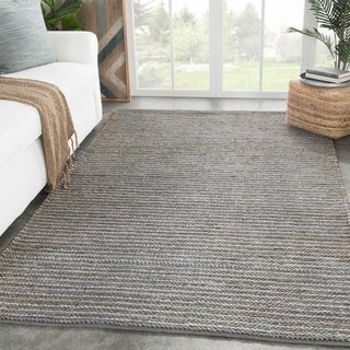 Rockport Handmade Solid Gray Area Rug - 5' x 8'