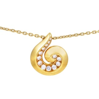Van Cleef & Arpels Women's Yellow Gold Diamond Breeze Pendant Necklace