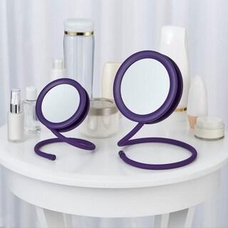 Joy Mangano set of 2 Handy Hook Mirrors Purple