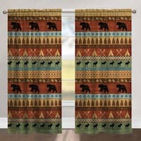 """Laural Home Bear at the Lodge 84 Inch Room Darkening Curtain Panel - 84l""""x50w"""""""