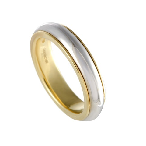Pomellato Yellow and White Gold Wedding Band Ring