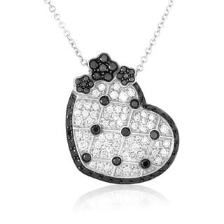 Pasquale Bruni Lulu White Gold Multi-Diamond Heart Pendant Necklace