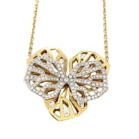 Cartier Caresse d'Orchidees Women's Diamond Multi-Gold Pendant Necklace