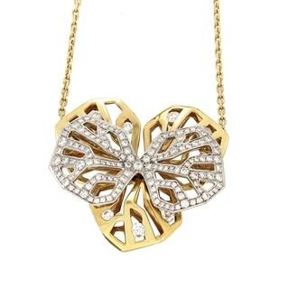 Cartier Caresse d'Orchidees Women's Diamond Multi-Gold Pendant Necklace