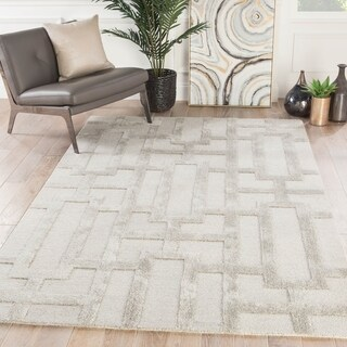 "Alden Handmade Trellis Light Gray Area Rug - 7'10"" x 10'10"""