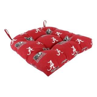 "Alabama Crimson Tide Indoor / Outdoor Seat Cushion Patio D Cushion 20"" x 20"", 2 Tie Backs - 20"" x 20"" x 3"""