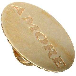 Pasquale Bruni Amore Yellow Gold Disk Ring