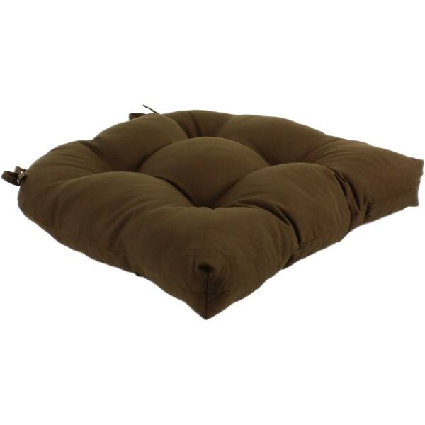Brown Colored Indoor Outdoor Seat Cushion Patio D Cushion 20 X 20 2 Tie Backs 20 X 20 X 3 On Sale Overstock 21705507