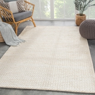 """Cyanic Natural Solid White Area Rug - 8'10"""" x 11'9"""""""