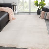 Phase Handmade Solid Cream Area Rug - 10' x 14'