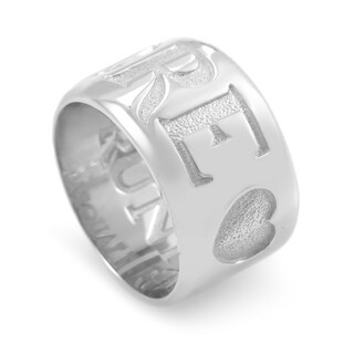 Pasquale Bruni Amore White Gold Heart Band Ring