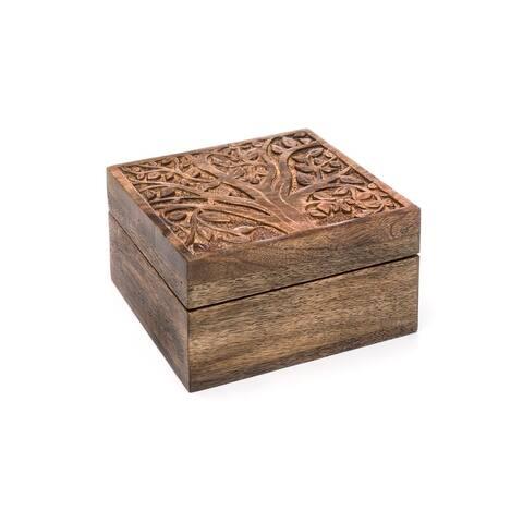 Handmade Aranyani Mango Wood Compartment Box (India)