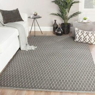Durant Indoor/ Outdoor Trellis Gray Area Rug - 2' x 3'