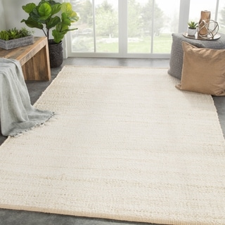 "Castine Natural Solid Cream Area Rug - 8'10"" x 11'9"""
