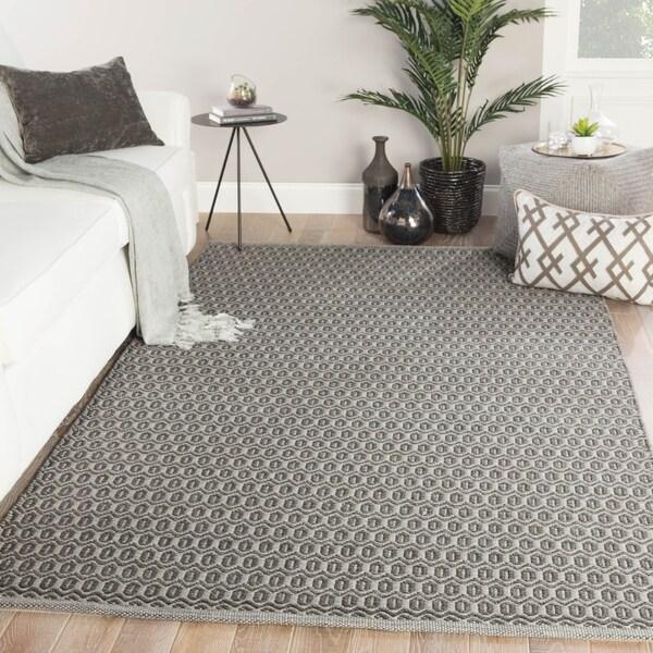 Durant Indoor/ Outdoor Trellis Gray Area Rug - 5' x 8'
