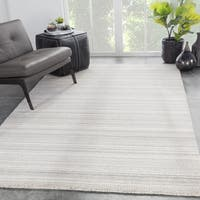 Juniper Home Handmade Zen Geometric Beige/Grey Wool Blend Area Rug - 5' x 8'