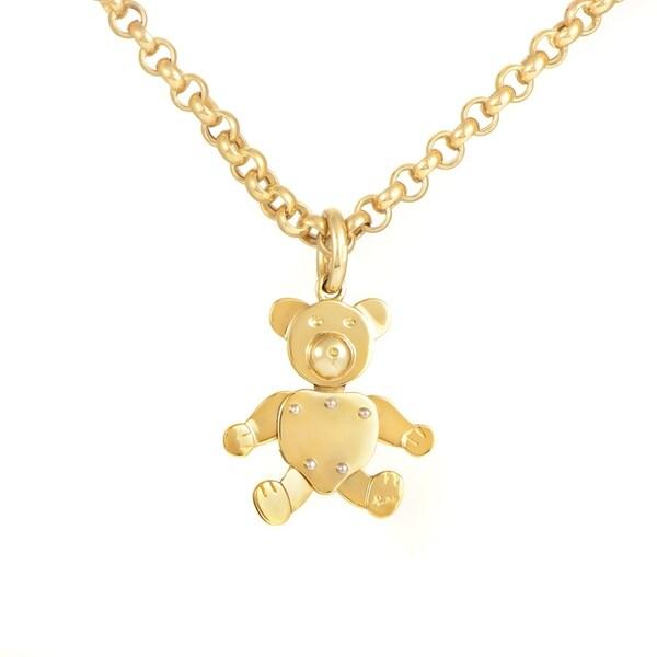 fd343fa0663da3 Shop Pomellato Yellow Gold Teddy Bear Pendant Necklace - Free ...