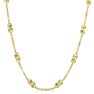 Masriera Women's Enameled Yellow Gold Necklace