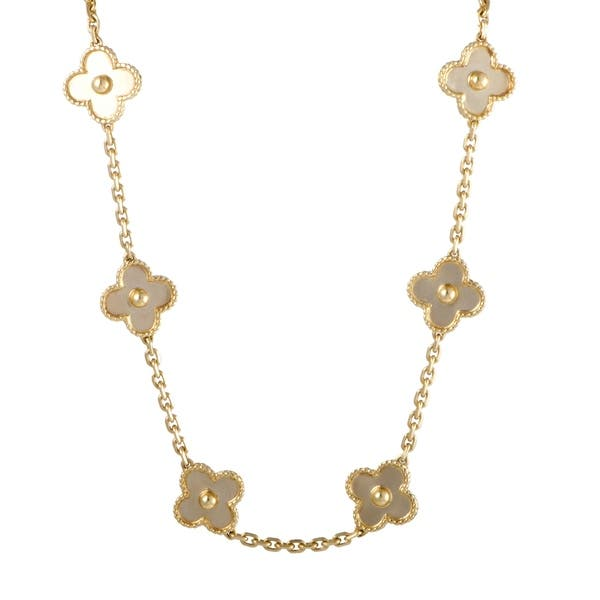 0d892788644e Van Cleef   Arpels Vintage Alhambra Yellow Gold 20 Motif Necklace ...