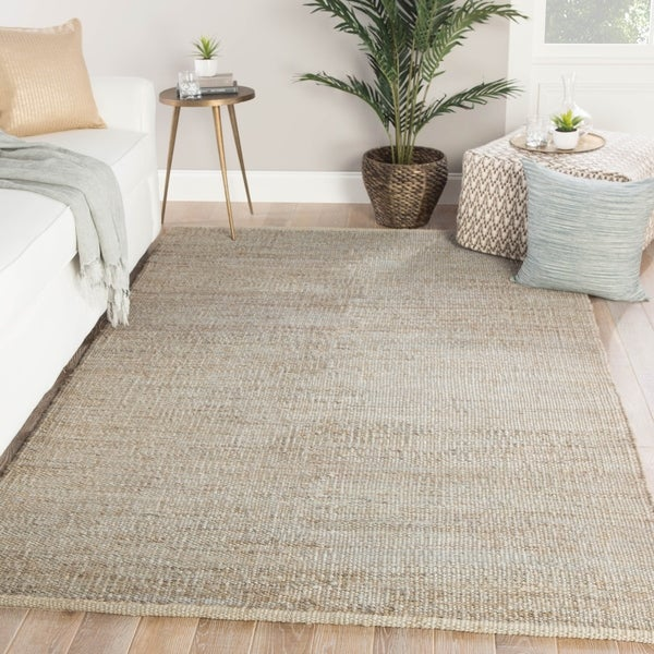 Castine Natural Solid Tan Area Rug - 5' x 8'