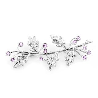 Cathy Waterman Platinum Diamond and Pink Sapphire Branch Brooch