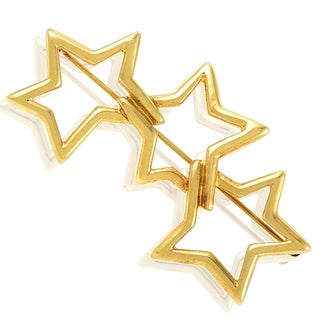 Pre-Owned Tiffany & Co. Yellow Gold Interlocking Stars Brooch