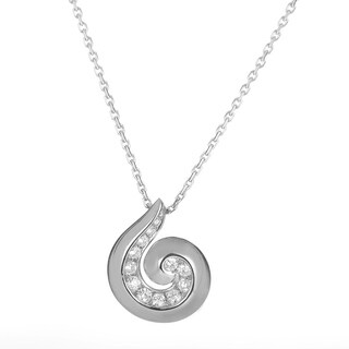 Van Cleef & Arpels Diamond Breeze White Gold Pendant Necklace