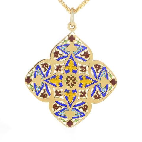 Chaumet Yellow Gold Enhancer Pendant Necklace