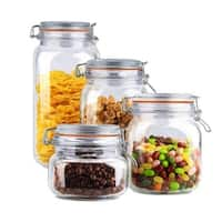 4 Piece Glass Canister Set