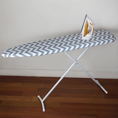 Chevron Cotton Ironing Board Cover - Grey/white