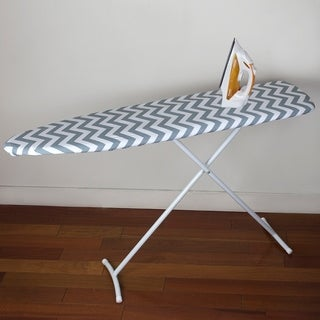 Chevron Cotton Ironing Board Cover - Grey/white