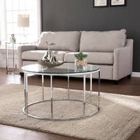 Silver Orchid Olivia Chrome Round Cocktail Table