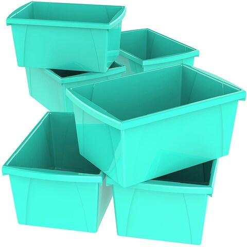 Storex 5.5 Gallon & 21L Classroom Storage Bin / 6 Colors Options (6 units/pack)
