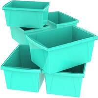 Storex 5.5 Gallon (21L) Classroom Storage Bin, 6-Pack