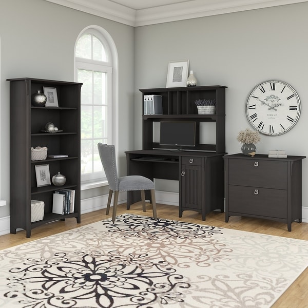 The Gray Barn Lowbridge Desk, Hutch, File Cabinet, and Bookcase in Black