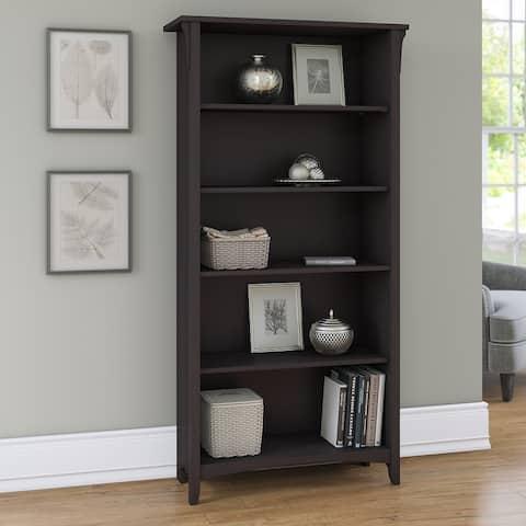 "The Gray Barn Lowbridge 5-shelf Bookcase in Vintage Black - 31.73""L x 12.17""W x 62.95""H"