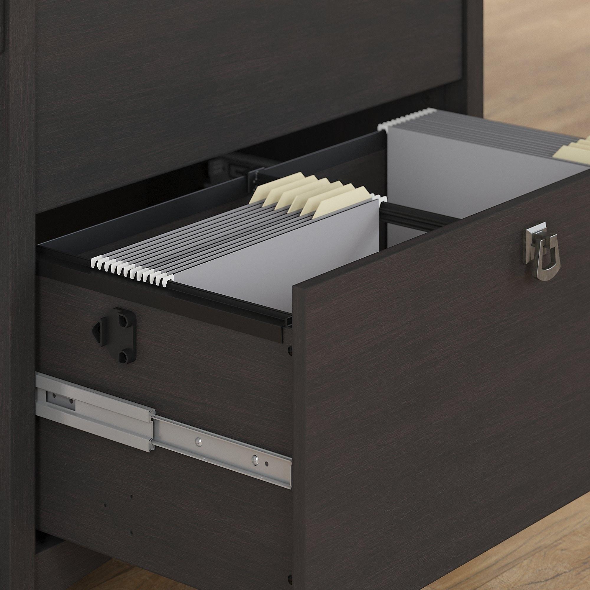 Bush Furniture Salinas Lateral File Cabinet In Vintage Black