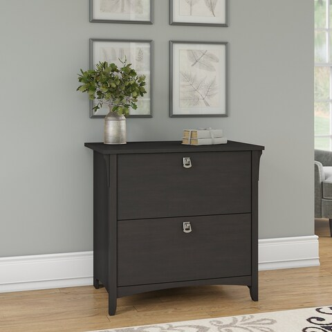 Bush Furniture Salinas Lateral File Cabinet in Vintage Black
