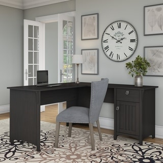 Black desks for home office Wood The Gray Barn Lowbridge Lshaped Desk With Storage In Vintage Black Overstockcom Buy Lshaped Desks Online At Overstockcom Our Best Home Office