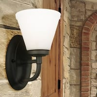 Eglo Mayview 1-Light Wall Sconce with Matte Bronze Finish