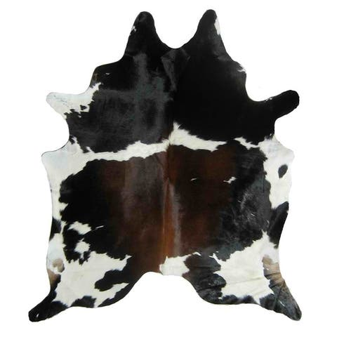 BROWN WHITE BLACK Real Natural Cowhide Rug Area Rugs