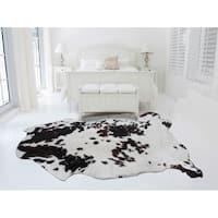 BLACK BROWN WHITE Real Natural Cowhide Rug Area Rugs